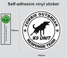 Zombie Outbreak sticker K9-Unit #3 printed full colour self-adhesive car bike