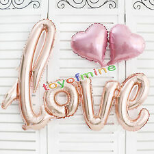 Rose Gold Love Heart Foil Balloon Engagement Wedding Birthday Party