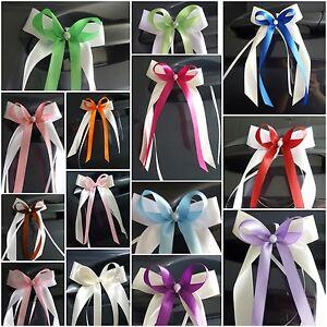10 Antennenschleifen ~28 Farben~ Autoschleifen Hochzeit Spiegelschleifen Deko