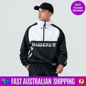 NEW Las Vegas Raiders Hooded Windbreaker Jacket - Size M - Genuine & FAST del...