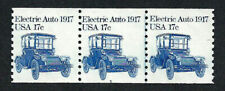 UNITED STATES, SCOTT # 1906, OFF-CENTER STRIP OF 3 PNC # 5, ELECTRIC AUTO 1917