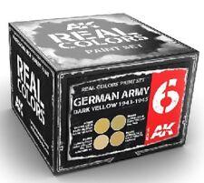 AKI REAL COLOR German Army Dark Yellow 1943-1945 Acrylic Paint Set 4 10ml Bottle