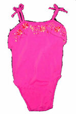 Baby Gap NWT Hot Pink Orange Ruffle Swimsuit Swim Suit 3-6 Months