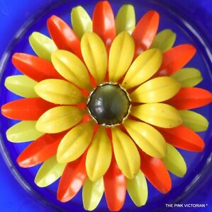 FLOWER FASHION PIN,FLOWER BROOCH, LARGE SIZE, ORANGE,YELLOW, BOUQUET,HOLIDAY