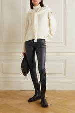 $1000 Theory 5 Pocket Bristol Leather Pants Leggings Black Rag Bone The Row 4 S
