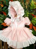 DREAM 0-5 YEARS baby girls  spanish tulle summer top and knickers set 4 colours