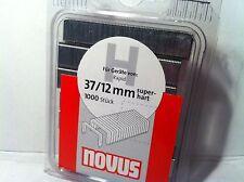 Tackerklammern  Typ 37   H    1000 Stück 12mm  NOVUS  Rücken  10,5mm   042-0372