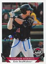 Connor Harrell 2015 Erie SeaWolves Signed Card