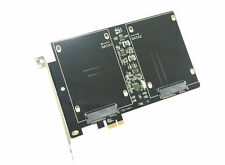 Dual SATA III to PCI-E X1 SSD Adapter Card for MAC PRO OSX 10.8-10.12 Bootable