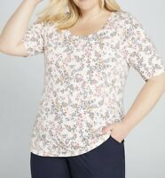 LANE BRYANT ~ NWT New 18 20 22 24 26 28 ~ Tiny Floral Ruched Top 1X 2X 3X 4X