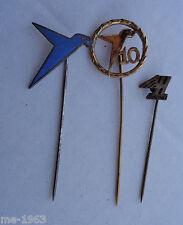 original  Abzeichen Nadel3 Stück LW Messerschmidt & Heinkel