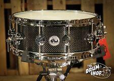 DW Collectors Snare Drum 5.5x14 Carbon Fiber (video demo)