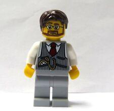 Lego Wedding Minifigure Groom Glasses Brown Beard Hair  Grey Suit  Best Man