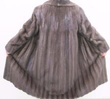 SENSUOUS Dark Blue Iris Mink Fur Coat Sz 10-12 Val 11k Excel Cond Rare Color A++