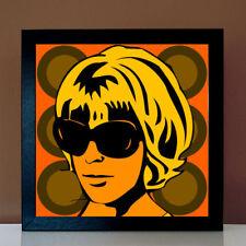 Seventies-Girl Retro Lounge POP ART Bild 60er 70er Jahre Motto Party Portraits