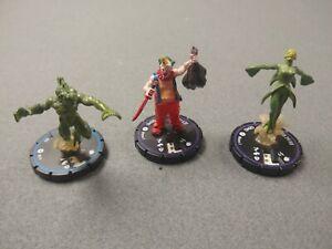 3 x Horrorclix Jester 5 BRINE WITCH DEMO 3 Deep One #59 Heroclix D&D RPG Wizkids