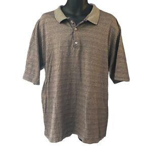 Bobby Jones Men's Polo Shirt XXL Golf Geometric Brown Red Blue