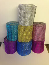 Diamante effect ribbon banding for cake decorating in Many Colours & Lengths