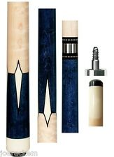 New Pechauer JP07-N Blue Stained Cue - 12.50mm Shaft - FREE 2x2, Extras & SHIP