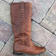 FRYE Pull On Boots Brown Leather Rivets Studded Womens Size 7