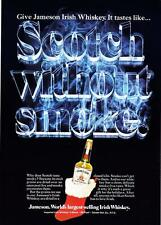 "1976 Jameson Irish Whiskey Bottle Xmas Stocking photo ""Scotch Without Smoke"" Ad"