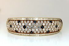 15.50ct Natural Sapphire Diamonds Bangle Bracelet 18 Karat