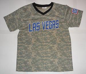 LAS VEGAS 51s Area 51 Alien Aviators Minor League Baseball Camo USO Jersey XL