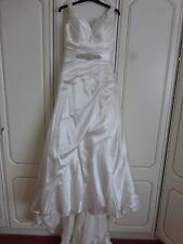 Ivory Satin wedding dress Sincerity Size 10/12 Collect Broadstairs, Kent, Ct10