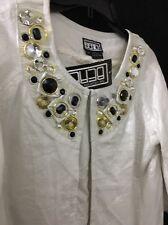 White Silver Gold Berek Women's Jacket Size PS