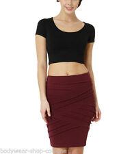 Figurbetonte Kurzarm Damenblusen, - tops & -shirts aus Baumwollmischung