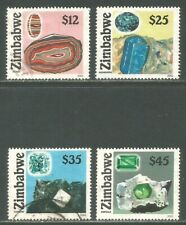 Zimbabwe 2002 Local Gemstones--Attractive Geology/Art Topical (909-12) fine used