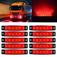 1PC Red 6 LED Side Marker Indicator Lights Car Truck Trailer Signal Lamps 12V