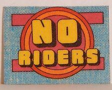 "VINTAGE 1970 MINI IRON-ONICS ""NO RIDERS"" CRACKER JACK PRIZE IRON-ON"