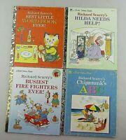 Little Golden Books Lot of 4 Richard Scarry's Story Book's