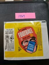 1969 Topps football Wax pack wrapper 10 cents Free Camera Advertisement