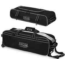 Storm 3 Ball Tournament Tote Bowling Bag With Tow Wheels & XL Shoe Pocket Black