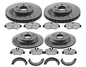 MERCEDES VITO W639 BRAKE DISCS AND PADS FRONT & REAR WITH HAND BRAKE SHOES