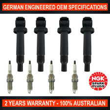 4x Genuine NGK Spark Plugs & 4x Ignition Coils for Toyota Echo Yaris