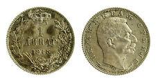 pcc2033_37) YUGOSLAVIA - SERBIA - PETER I° - 1 DINARA SILVER 1915