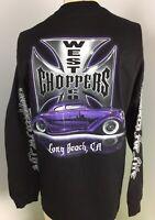 New Jesse James West Coast Choppers Men's Black Long Sleeves T-Shirt size L
