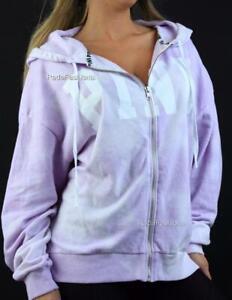 Victoria's Secret PINK Tie Dye Boxy Full Zip Hoodie Logo Sweatshirt NWT
