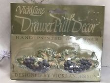 VickiLane Hand Painted Grape Grapes Drawer Pull Vicki Anderson NEW in Packaging