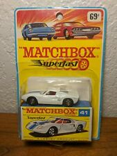 VINTAGE 1969 Fred Bronner Corp. MATCHBOX SUPERFAST - NO.41-FORD G.T.  IN BOX
