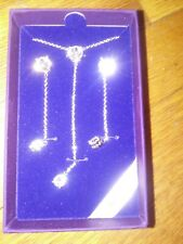 swarovski elements necklace and earing set clear