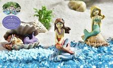 3 Mermaids Mini Under The Sea Figurine Miniatures Decor New