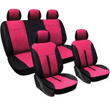 WOLTU Universal Sitzbezug Schonbezug Sitzbezüge Set Neu Pink/Schwarz AS7288pk