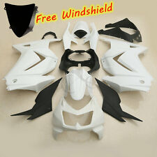 Unpainted White ABS Fairing Bodywork For Kawasaki Ninja 250R EX250 2008-2012