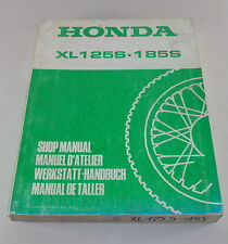Officina manuale Workshop Manual Honda XL 125 S/XL 185 S Stand 1978
