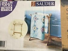 New Sauder Quilt Rack solid wood oak finish hangs blankets