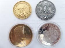 4 Médailles- Napoléon Ier - Dont 2 dorées à l'or fin - Splendide - Cupro-nickel